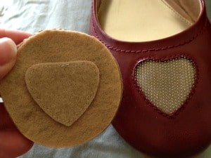 mups heart shaped velcro