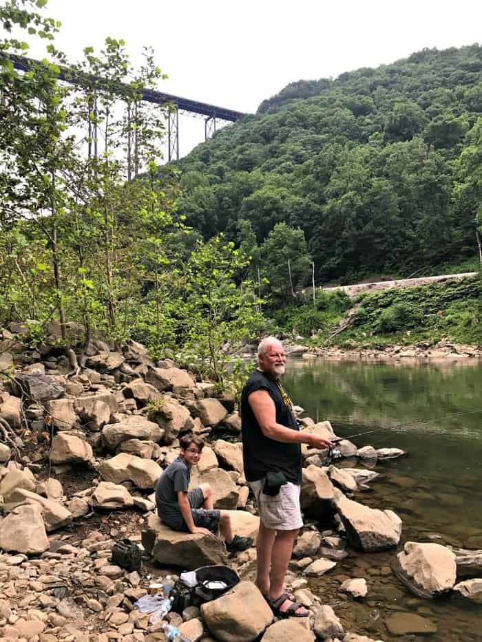new river gorge fishing under the bridge