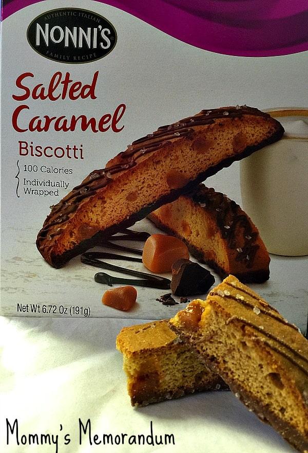 nonni's salted caramel biscotti