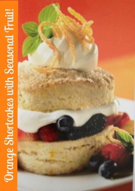 orange shortcakes with seasonal fruit recipe
