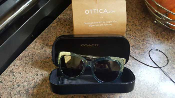 ottica coach prescription sunglasses in case