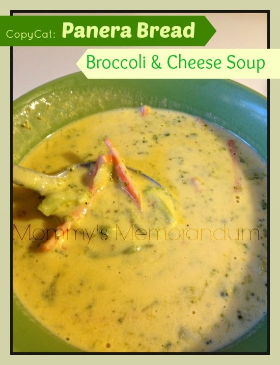 panera bread copy cat broccoli and cheese soup #recipe #copycat #nom