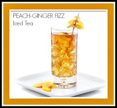 peach ginger fizz iced tea