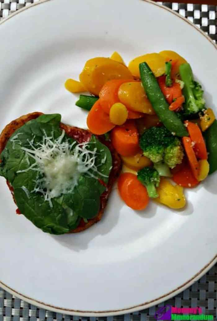 personal trainer food italian chicken provolone with vegetables