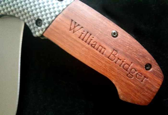 personalized cart engraved handle on pocket knife