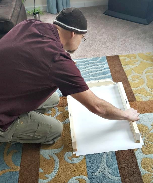 photowall canvas assembly