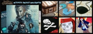 Pirates of the Caribbean: Dead Men Tell No Tales Free Printables Activity Packet and Crafts!