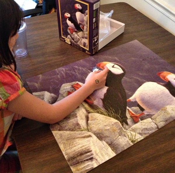 Family Game Night puffer puzzle