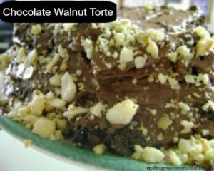 Recipe: Dark Chocolate Walnut Torte