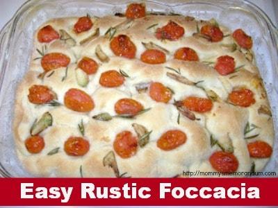 rustic focaccia recipe