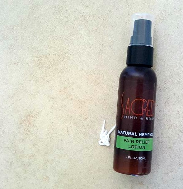 sacred mind and body pain relief lotion