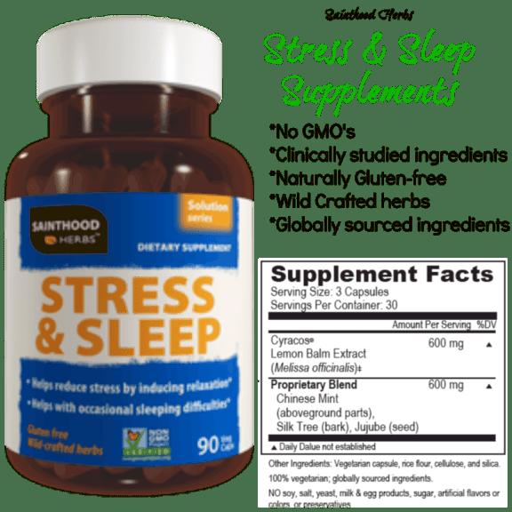 sainthood herbs stress and sleep supplements