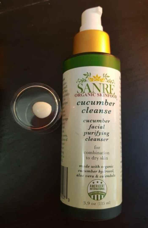 sanre organic skinfood cucumber cleanse