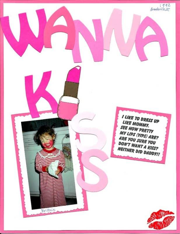 scrapbooking WannaKiss