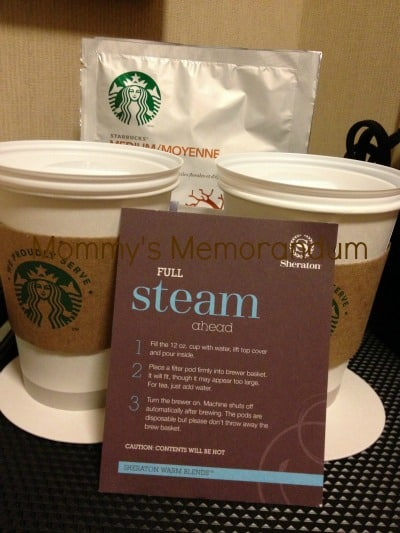 sheraton kansas city serves starbucks coffee