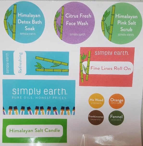 simply earth labels