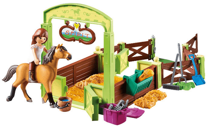 spirit riding free stall from playmobil