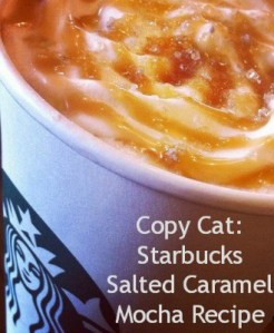 Copy Cat: Starbucks Salted Caramel Mocha Recipe