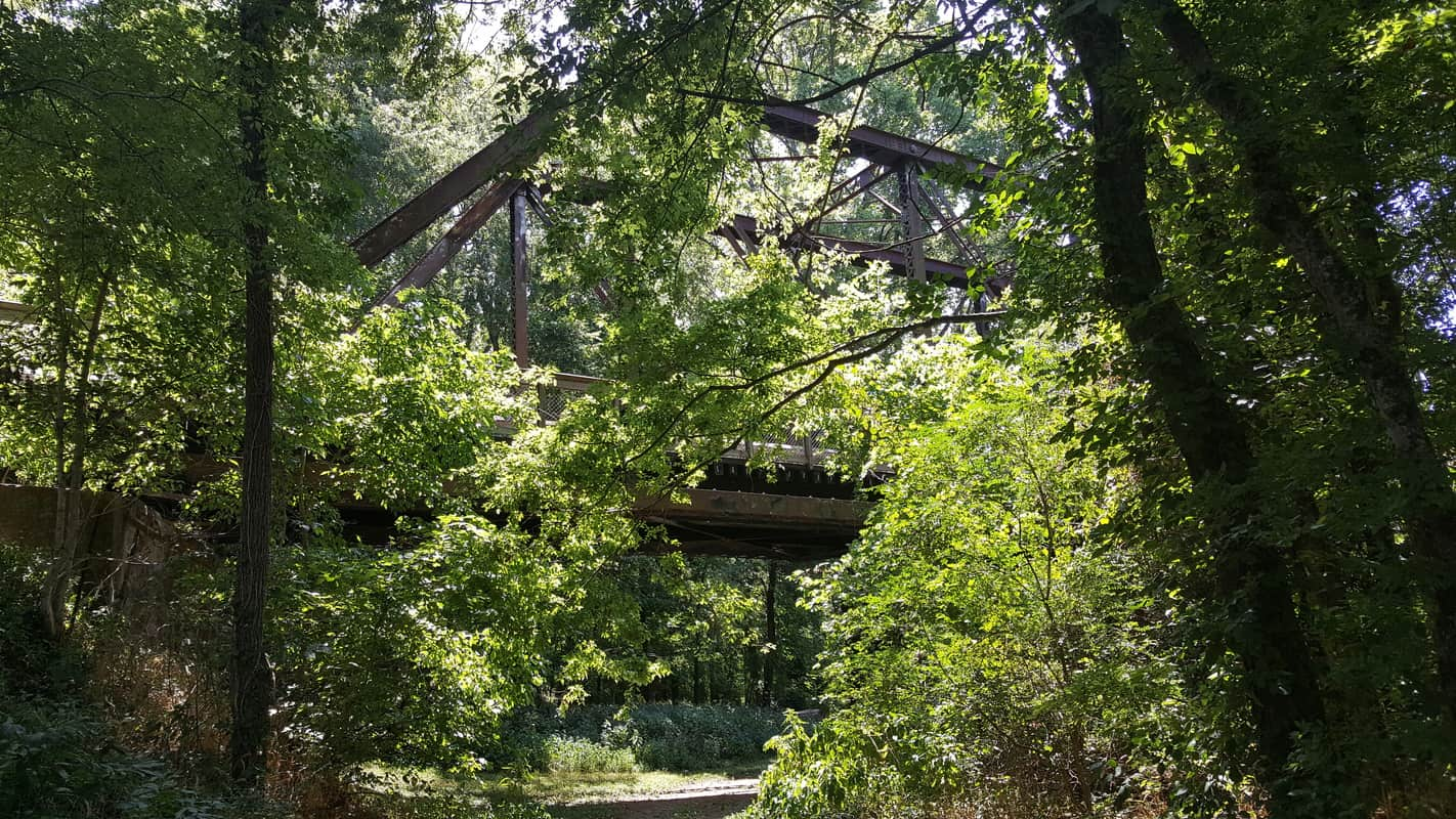 We walked under the Staunton River Bridge. This is the view looking at the bridge from the battlefield.