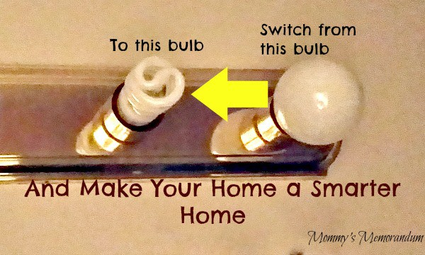 switch from regular bulbs to CFLs #DEsmarthome