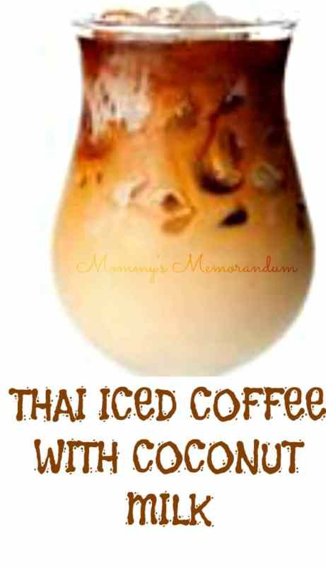 thai iced coffee with coconut milk #recipe