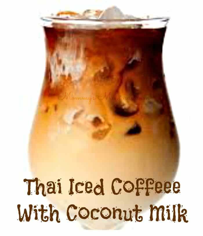 thai iced coffee with coconut milk