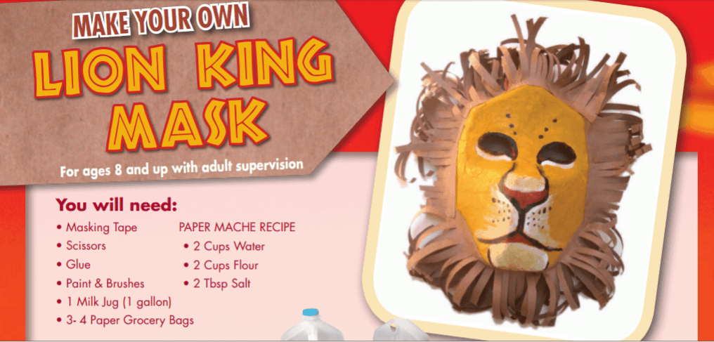Make Your Own Lion King Mask from a Milk Jug