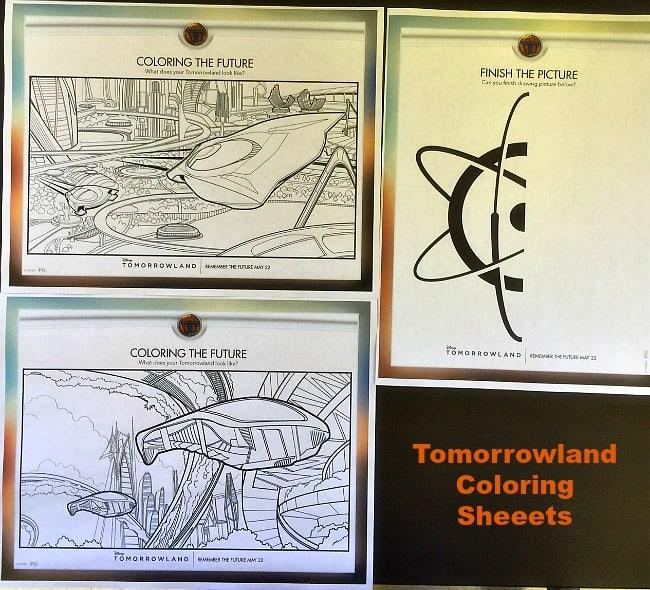 tomorrowland coloring sheets
