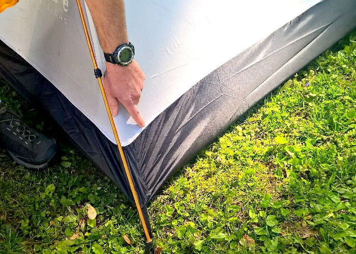 tribe adventure tent II waterproof bottom