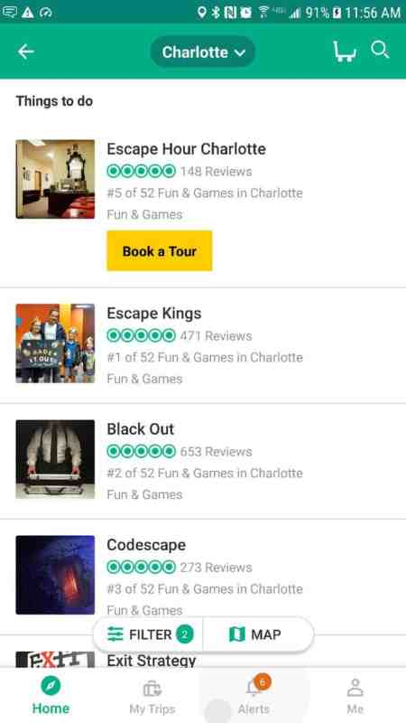 tripadvisor charlotte escape hour