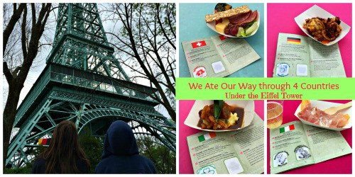 we are our way through 4 countries under the eiffel tower Collage