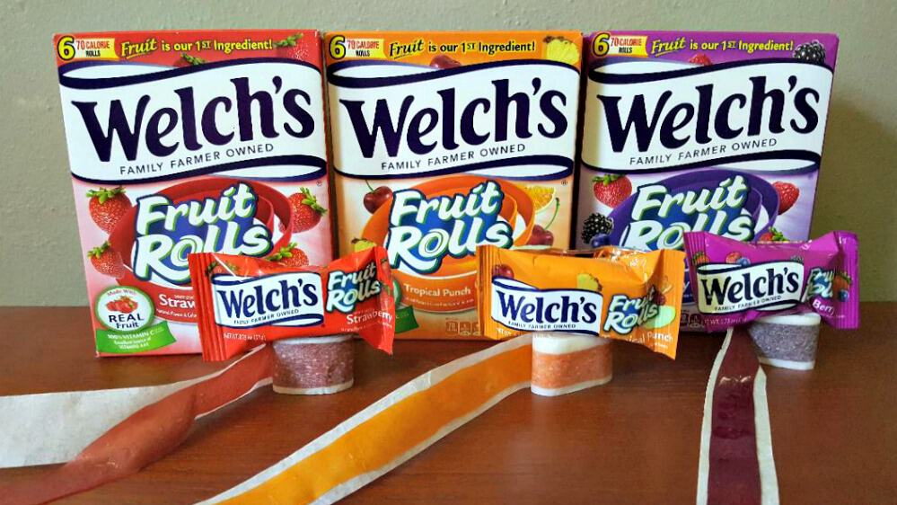 welchs fruit rolls line up