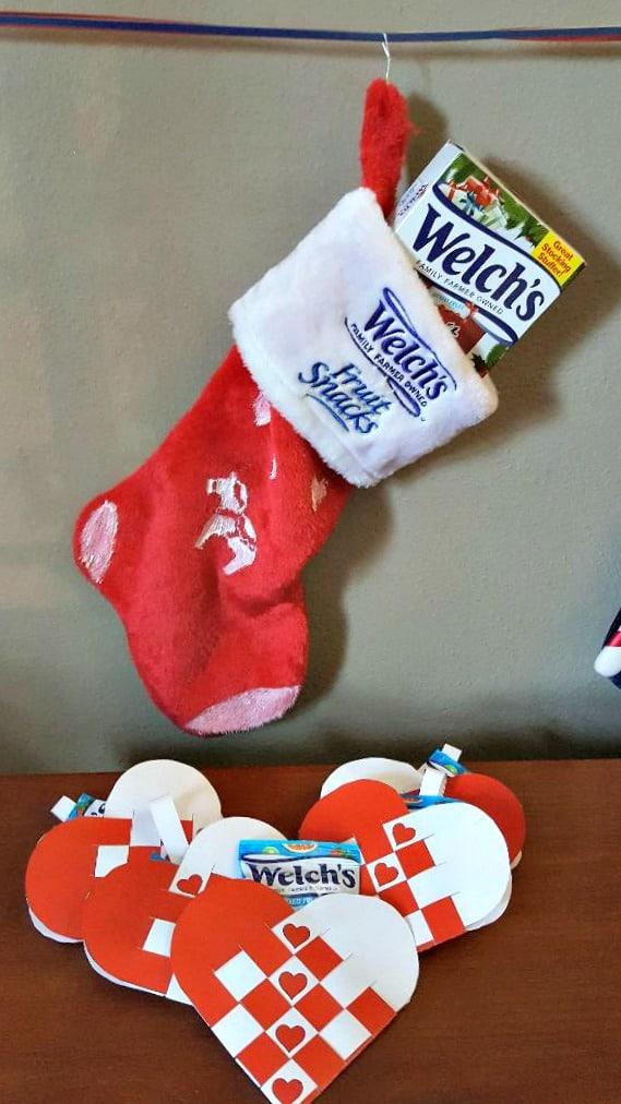 welch's fruit snacks christmas stockings