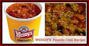 WENDY'S Psuedo Chili #Recipe