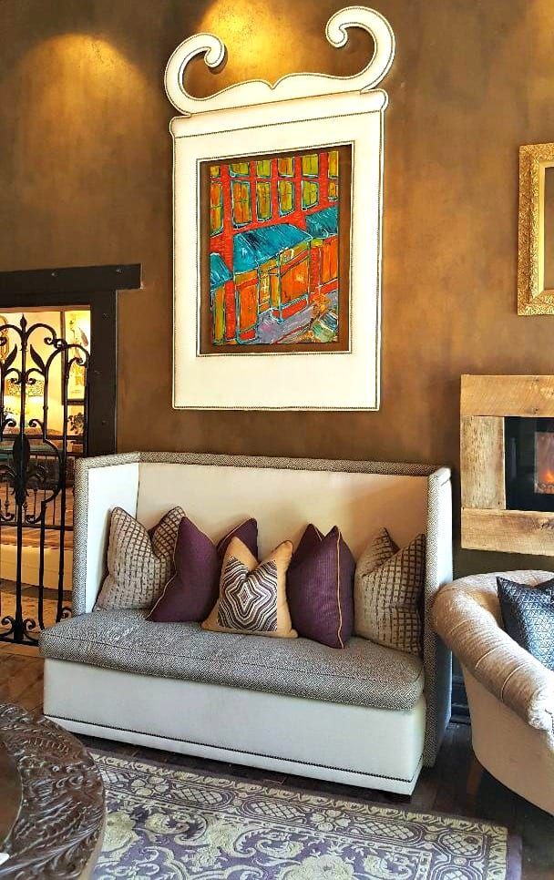 windsor boutique hotel artwork in lobby