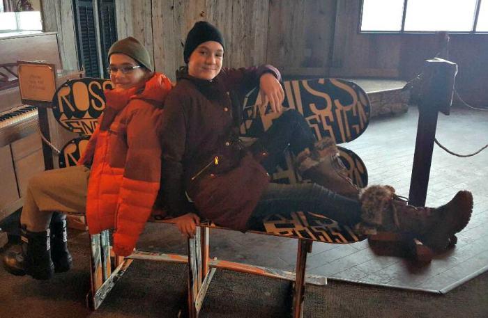 wintergreen the edge ski board bench