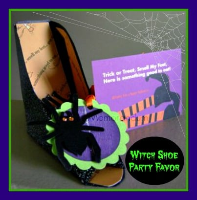 Witch Shoe #DIY #Halloween #Favors #Craft
