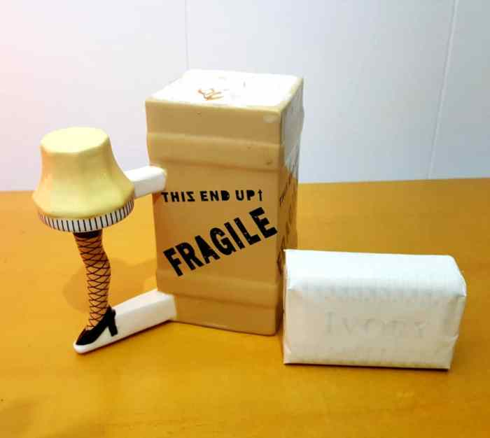 zak designs leg lamp sculpted ceramic mug