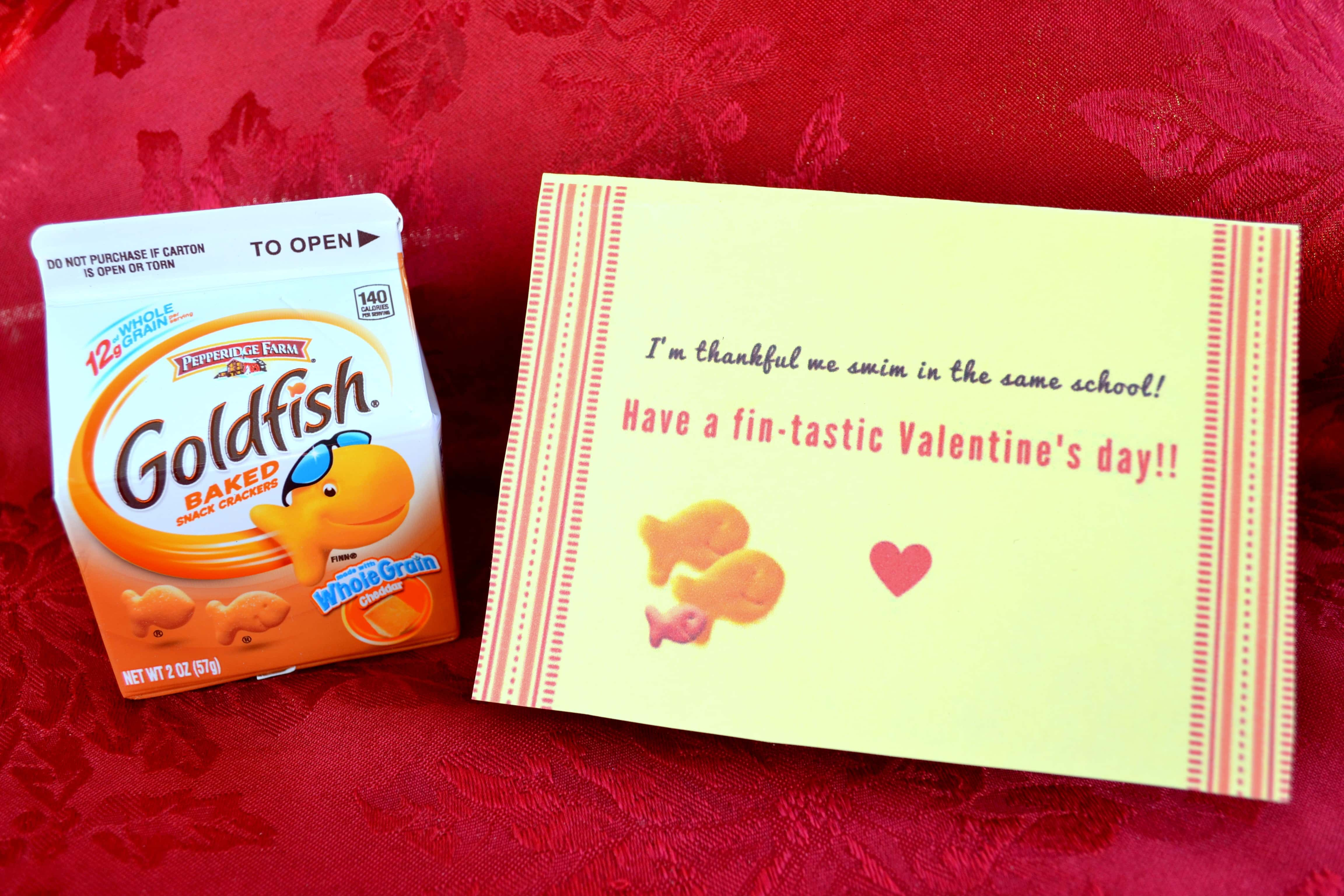 Free Printable Goldfish Valentines For Kids Mommy Snippets