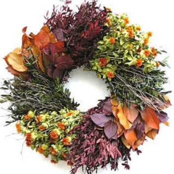 Tres Chic Dried Herb Wreath