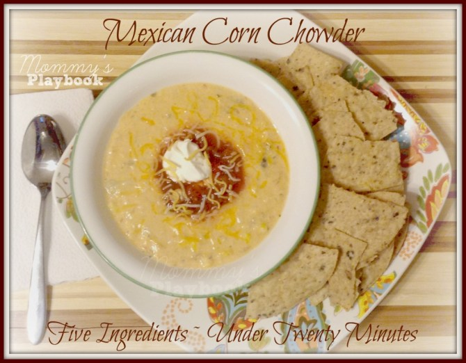 Mexican Corn Chowder; 20 Minute Meals; Meatless Meals