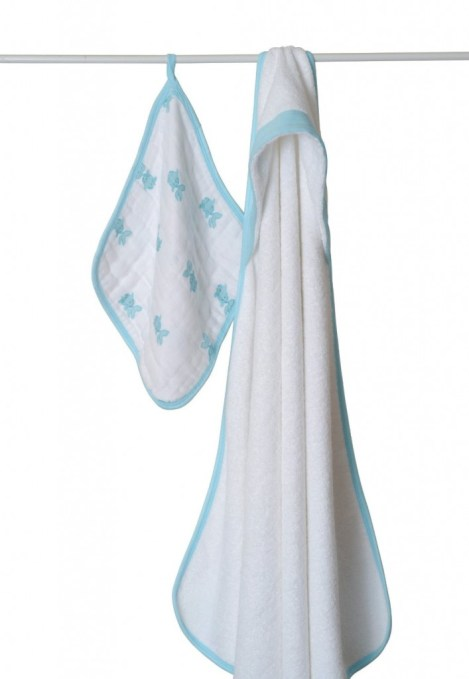 aden + anais Muslin Hooded Towel & Washcloth Set