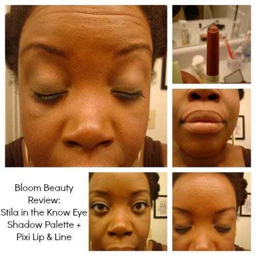 stila natural eye shadow palette review, Bloom Beauty Review, Stila Eye Shadow Review, Pixi Lip & Line