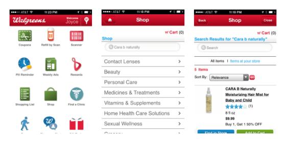 Order Cara B Naturally BOGO 50% off with Walgreens App #MyCaraB