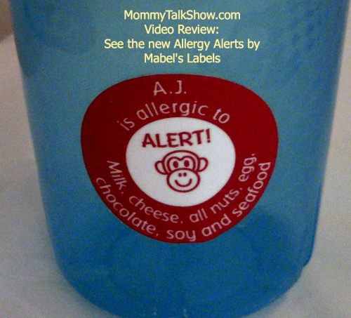 Video: See the New Allergy Alert Label's from Mabel's Labels ~ MommyTalkShow.com