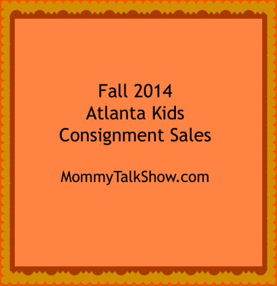 Fall 2014 Atlanta Kids Consignment Sales