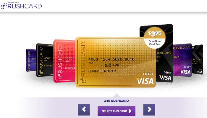 Gold Visa Rush Card