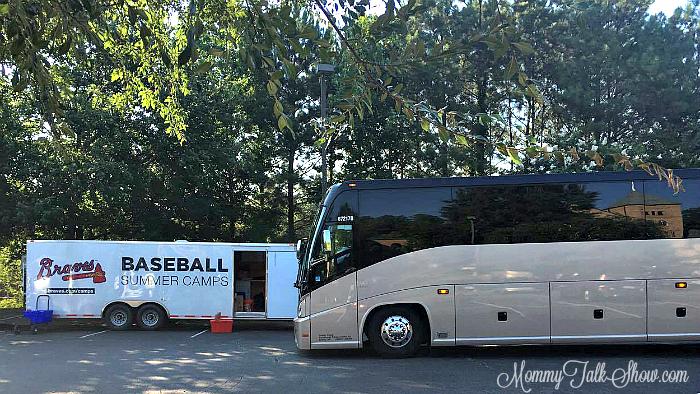 Braves Baseball Camp Bus