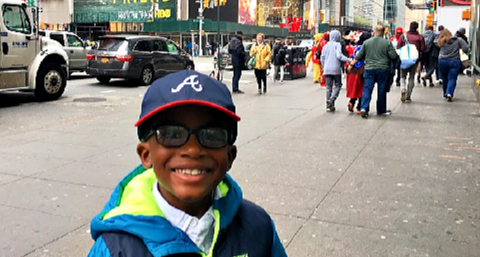 Visiting Times Square with Children? The National Geographic Encounter #OceanOdyssey is a Must See