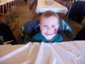 A wiggly and happy toddler makes for a blurry photo.